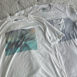 Reef and Vissla t-shirts